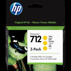HP 712 3-pack Yellow Ink 29ml