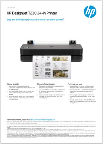 HP DesignJet T230 24-inch
