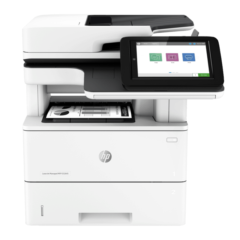 HP LaserJet Managed E52645 Mono A4 Multifunction Printer Front View web