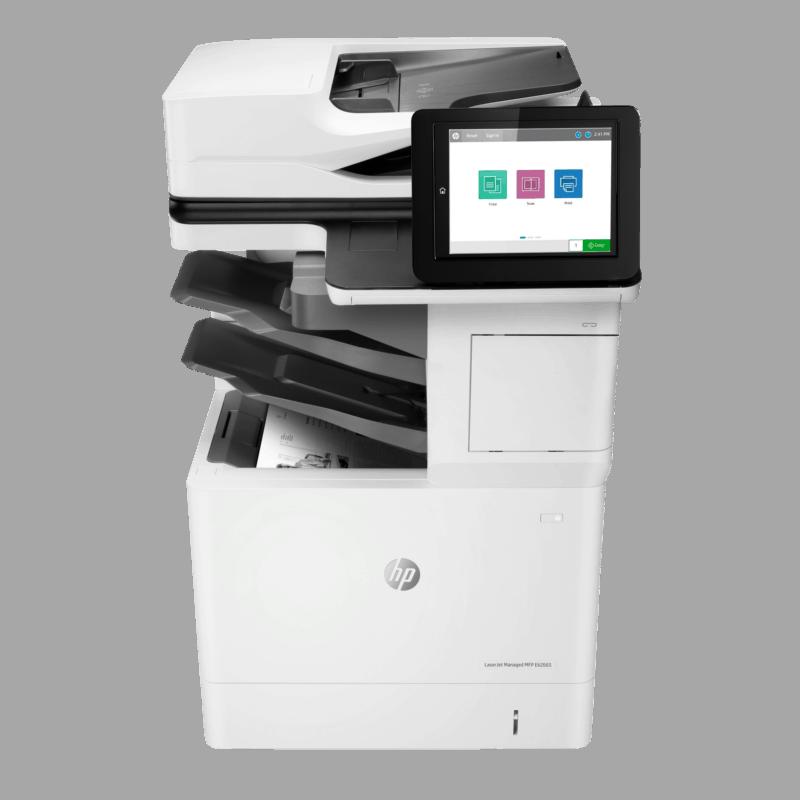 HP LaserJet Managed E62665hs Mono A4 Multifunction Printer Front View web